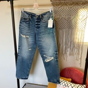 Free People | Ripped Crop Boyfriend Jeans, SZ 25